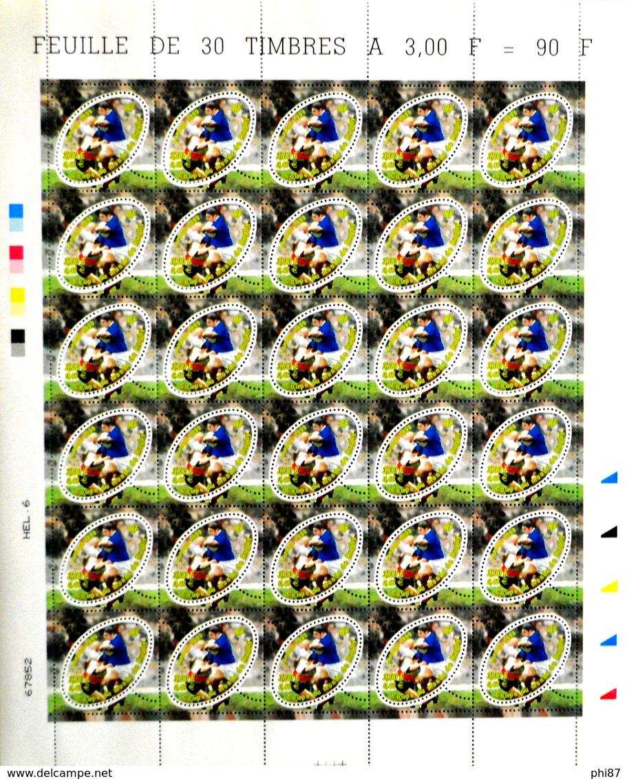 FRANCE - COUPE DU MONDE DE RUGBY 1999 N° 3280 - HÉLIOGRAVURE - FEUILLE DE 30 TIMBRES NEUFS** NON PLIÉE - Feuilles Complètes