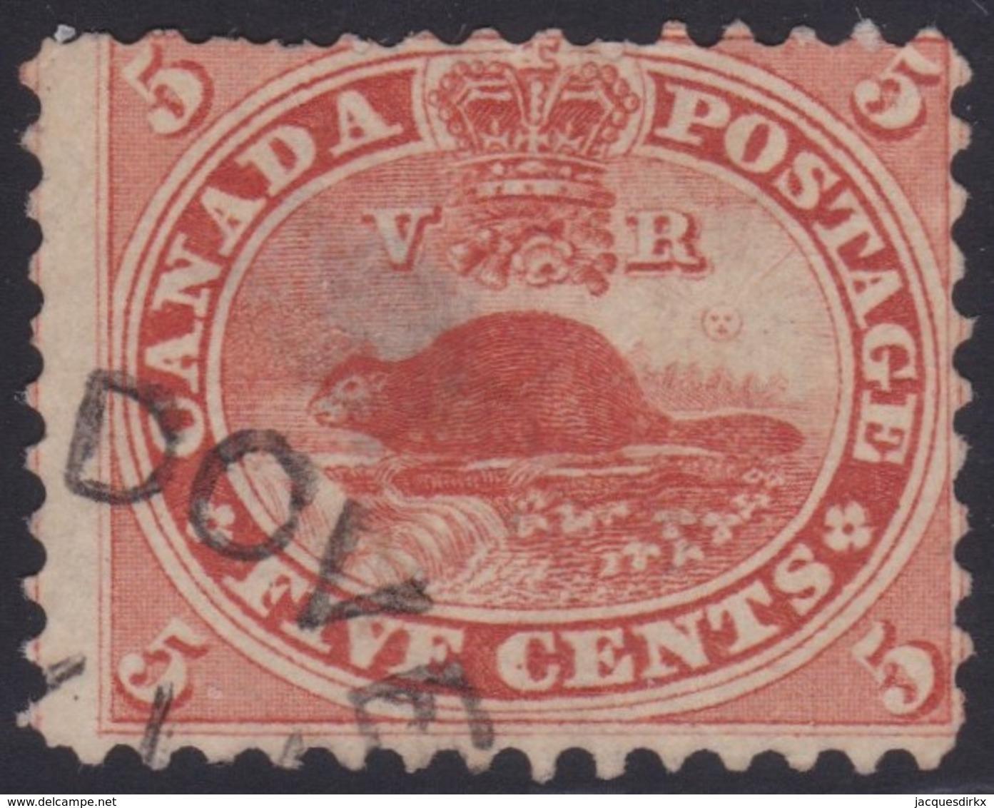 Canada      .    Scott      .   15        .     O    .    Cancelled     .   /    .   Gebruikt - 1851-1902 Regering Van Victoria