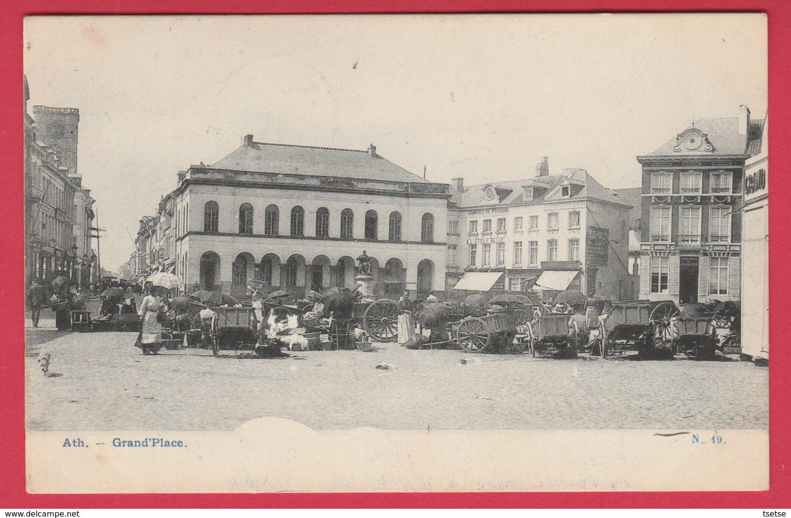 Ath - Grand'Place ... Le Marché ...échoppes - 190? ( Voir Verso ) - Ath