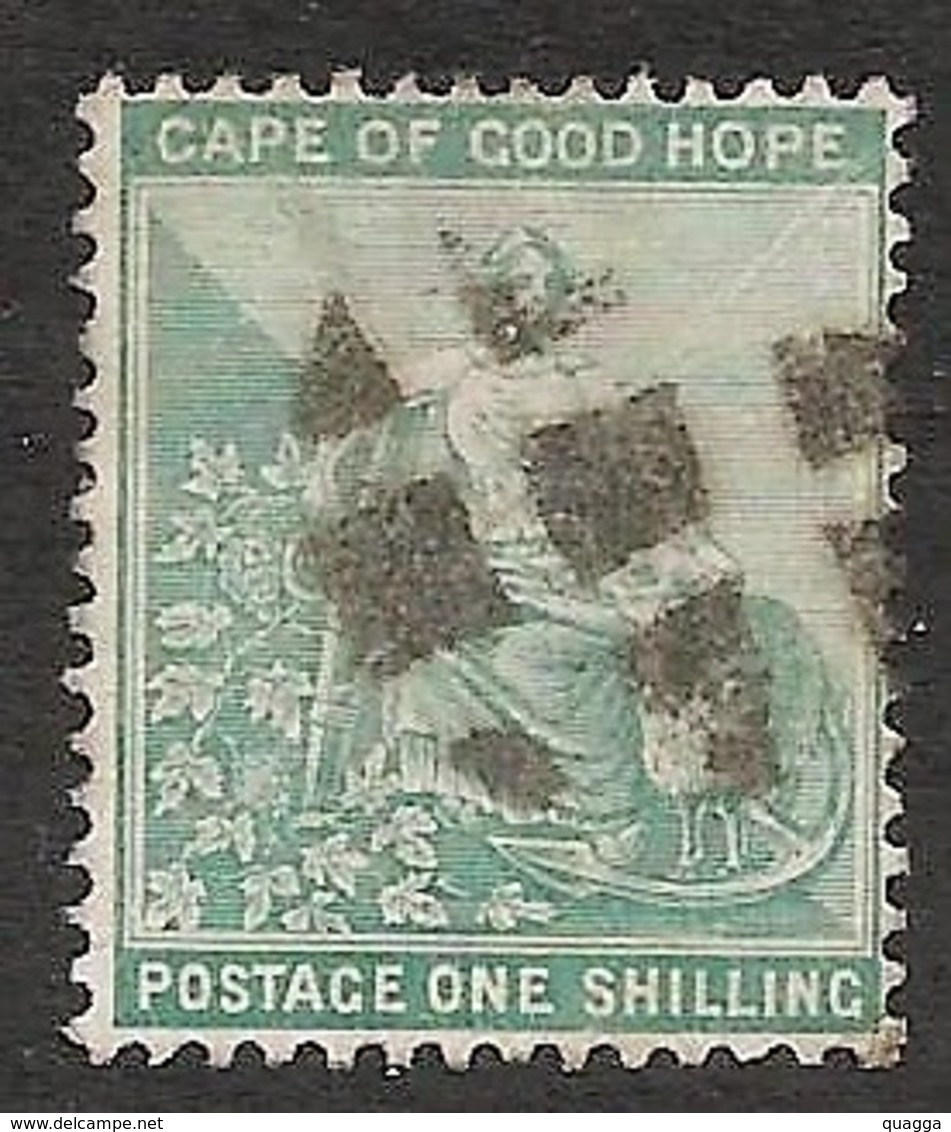 Cape Of Good Hope 1893. 1sh Blue-green (wmk.Anchor). SACC 61, SG 66. - Kap Der Guten Hoffnung (1853-1904)