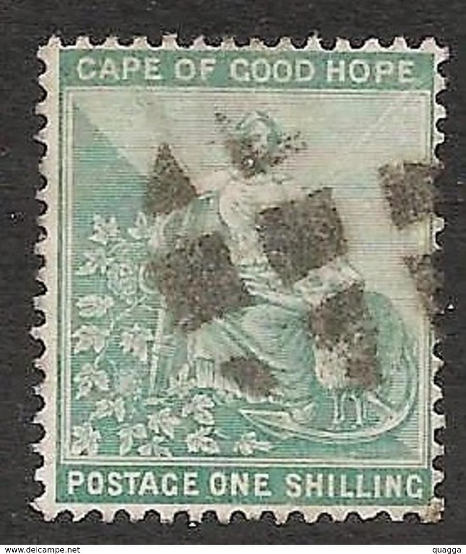 Cape Of Good Hope 1893. 1sh Blue-green (wmk.Anchor). SACC 61, SG 66. - Südafrika (...-1961)