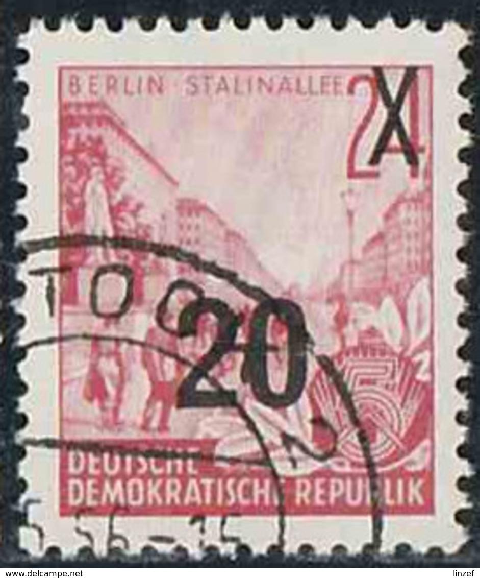Allemagne Orientale 1955 Yv. N°194 - Plan Quinquennal - 20p S. 24p Avenue Staline à Berlin - Oblitéré - Gebraucht