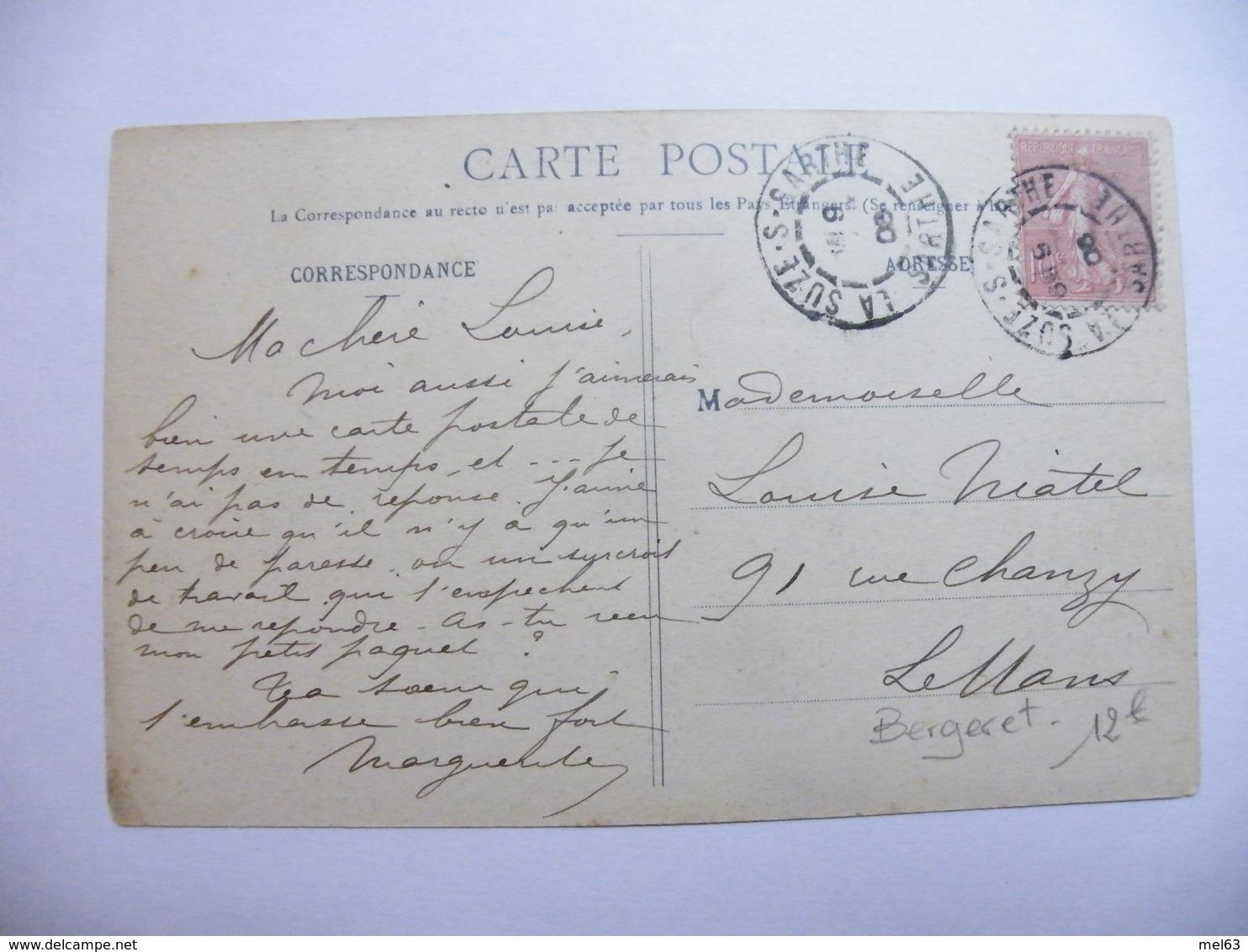 A466. CPA. .BERGERET. Agriculture. La Vie Aux Champs. Semer Son Jardin. Beau Plan Animé. écrite & Voyagée 1908 - Cultures