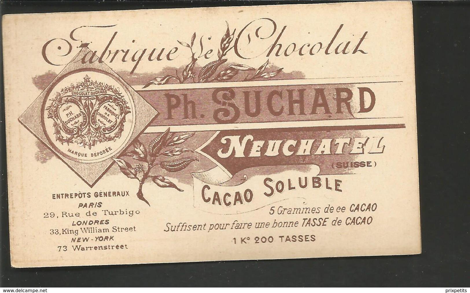 CHROMO SUCHARD NEUCHATEL SUISSE    ESPAGNE  TAUREAU  °° 477   °° - Suchard