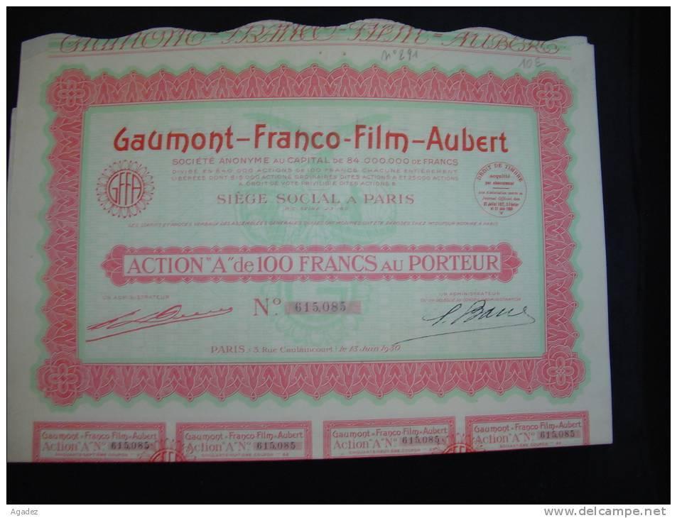 """Action """"Gaumont-Franco-Film-Aubert Paris 1930 Cinéma Excellent état,avec Tous Les Coupons - Cinéma & Théatre"""