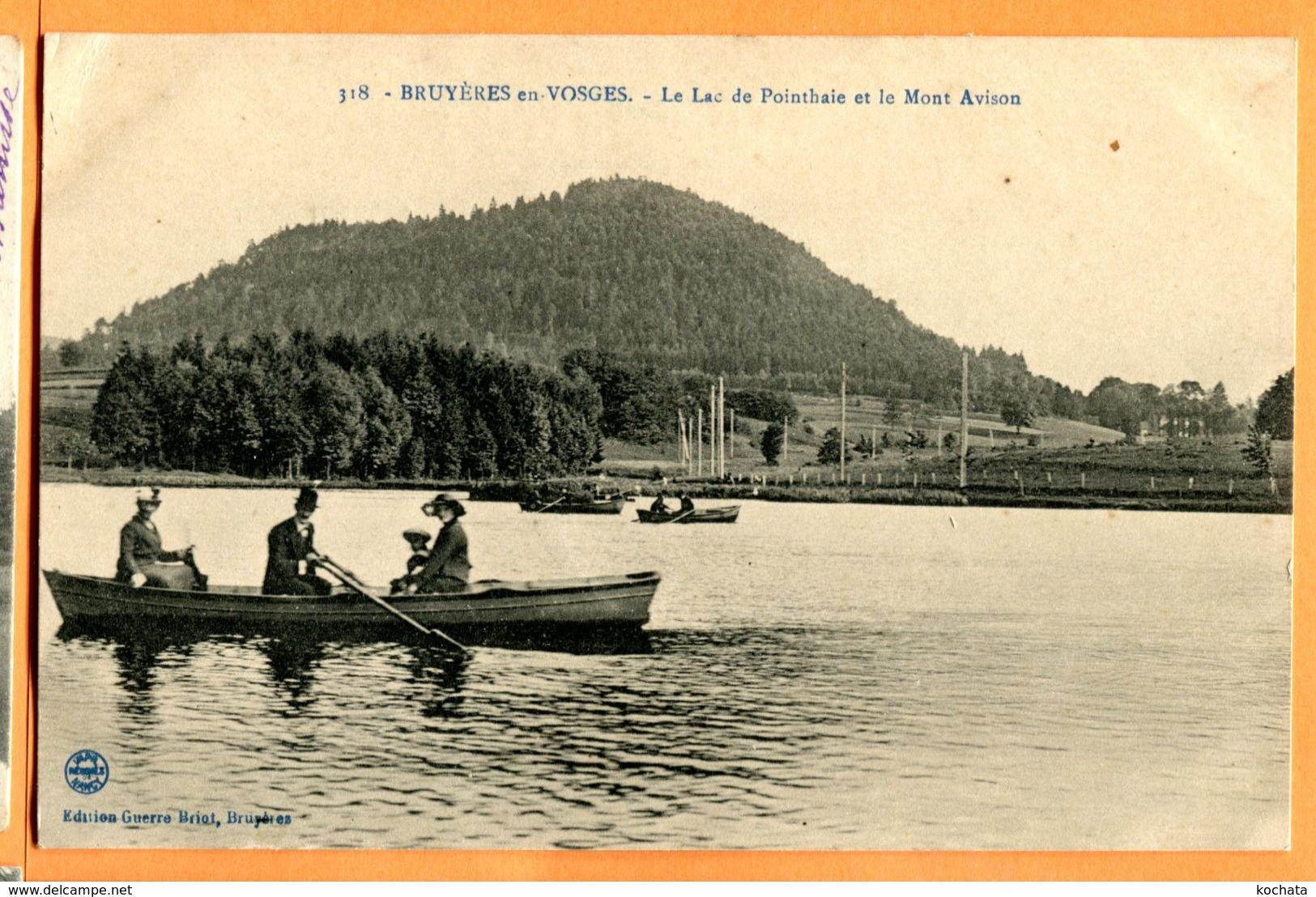 CAL1034, Bruyères En Voges, Le Lac De Pointhaie Et Le Mont Avison, Animée, 318, Circulée 1906 - Bruyeres
