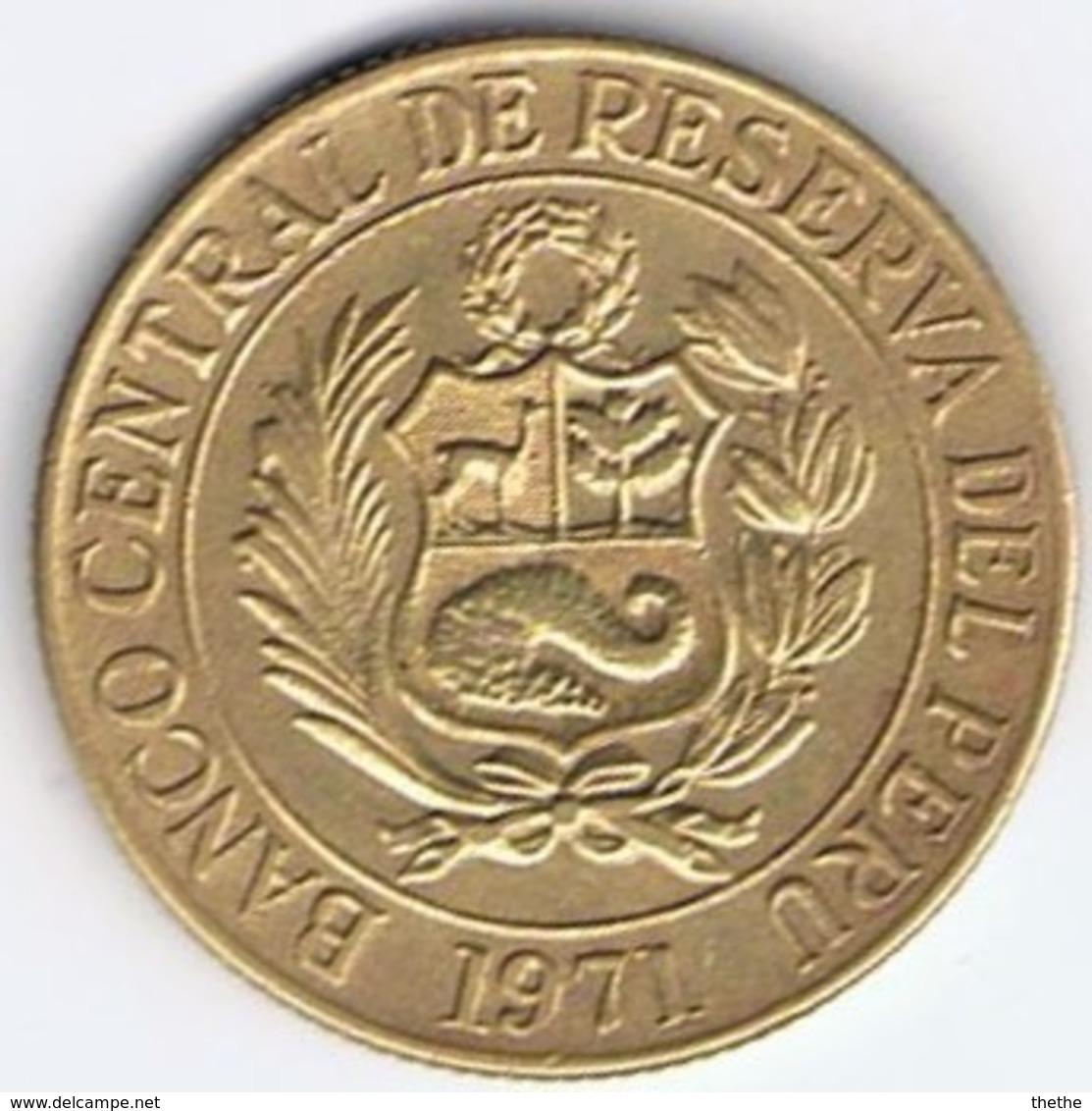 PEROU - UN SOL DE ORO  - 1971 - Pérou