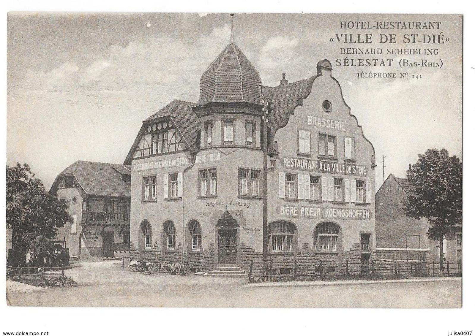 SELESTAT (68) Hotel Restaurant Ville De Saint Dié - Selestat