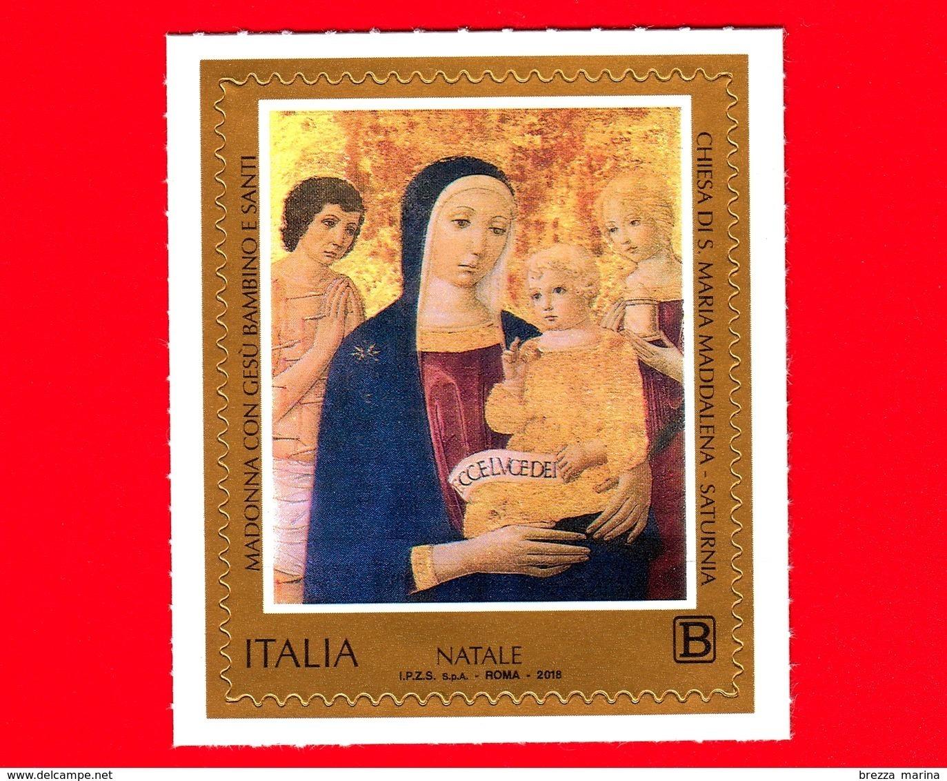 Nuovo - MNH - ITALIA - 2018 - Natale - Pittorico - Madonna Con Gesù Bambino E Santi - Saturnia - B - 6. 1946-.. Repubblica