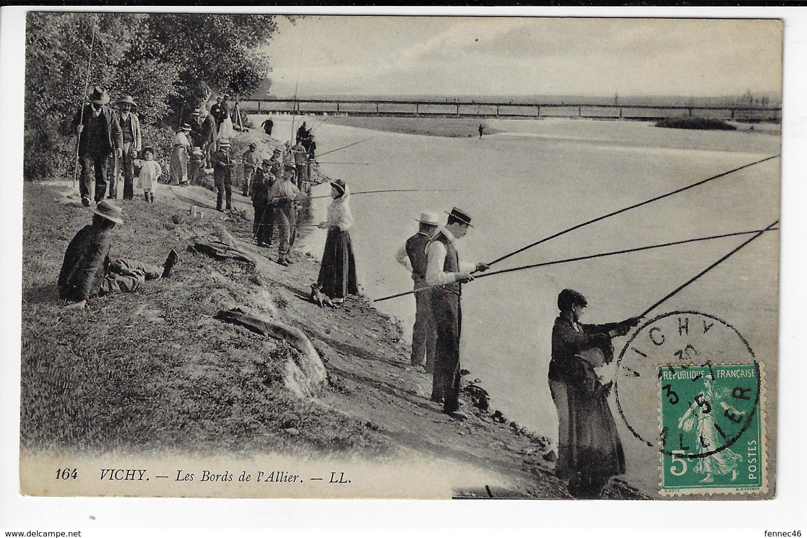 03 - VIVHY - Les Bords De L'Allier - Pêcheurs - 1915 (V64) - Vichy