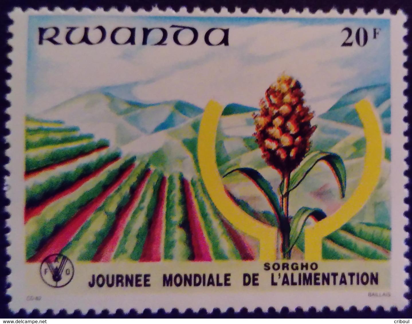 Rwanda 1982 Cereale Sorgho Alimentation Yvert 1044 ** MNH - Rwanda