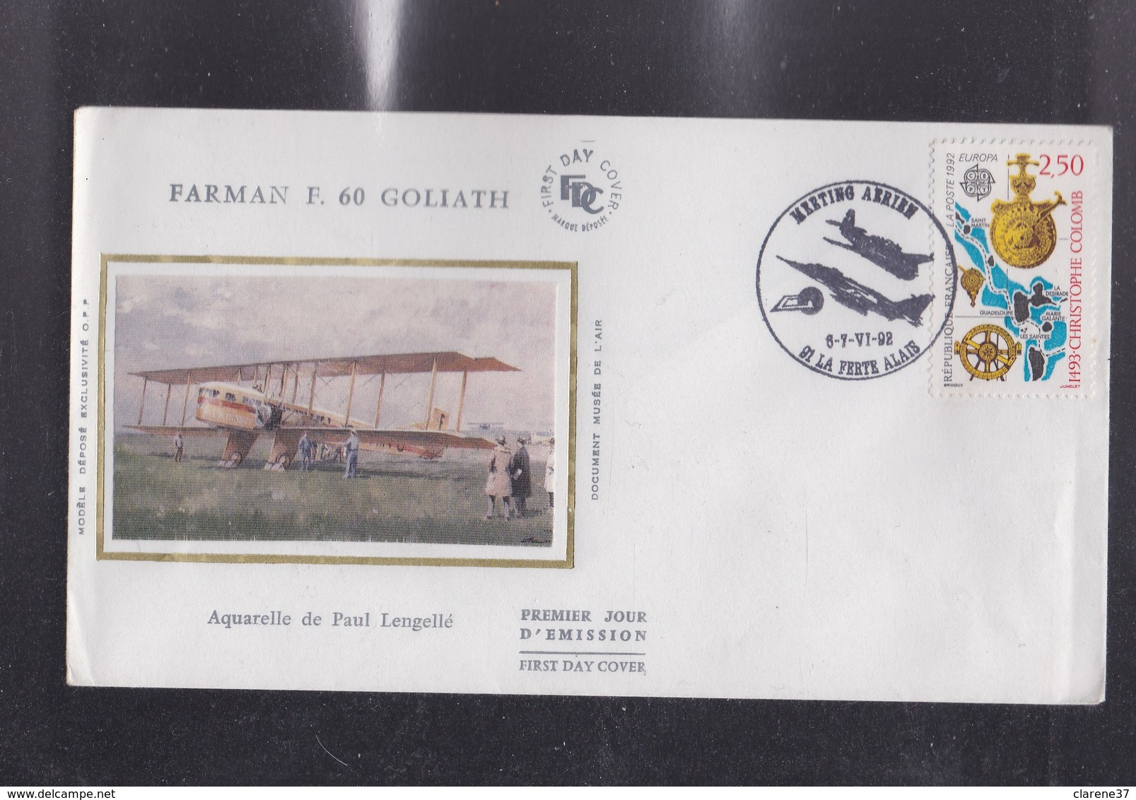 ENVELOPPE , MEETING AERIEN De La FERTE ALAIS ,ESSONNE  6et 7 Juin 1992 - Autres Collections