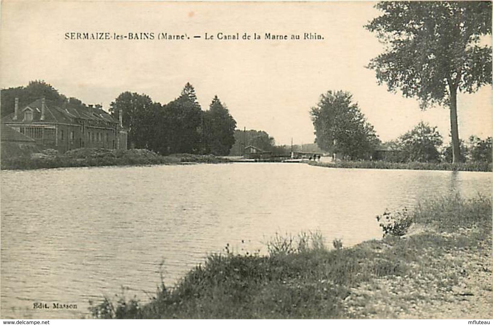 51* SERMAIZE LES BAINS Canal    MA86,1153 - Sermaize-les-Bains