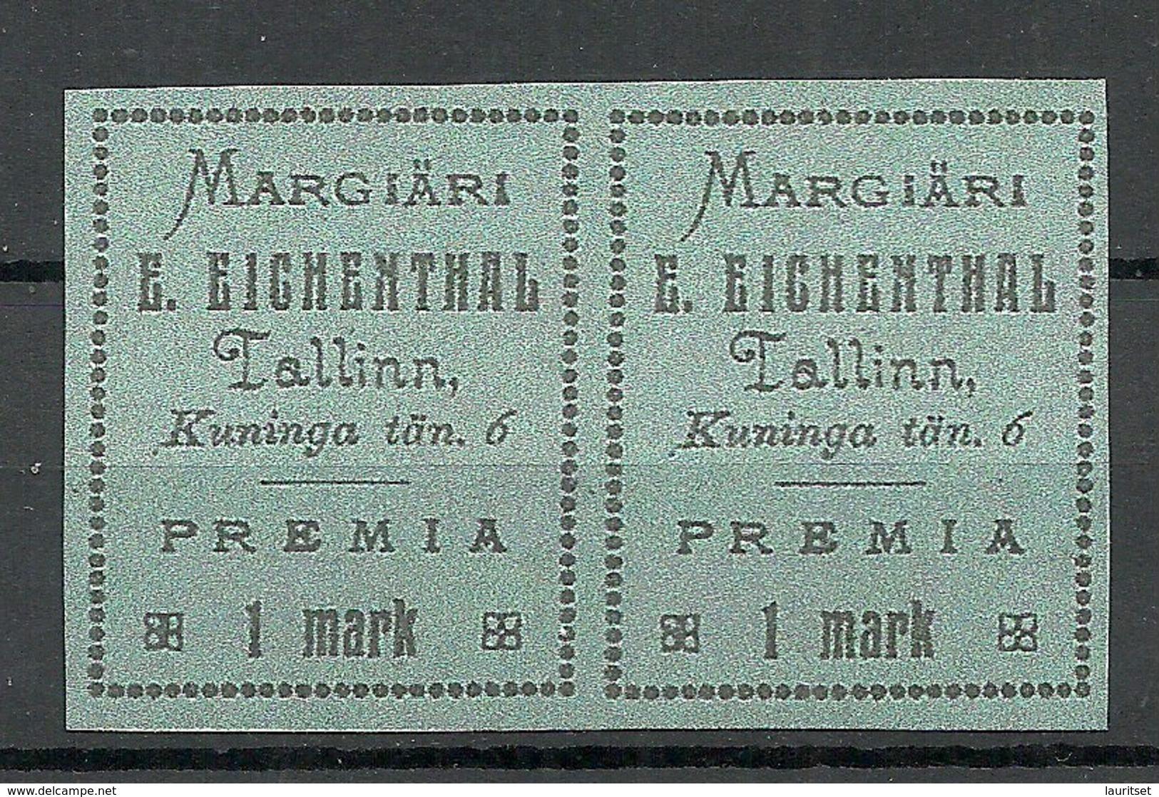 ESTLAND ESTONIA Margiäri Eichenthal In Pair. Cartong Paper Advertising Vignette MNH - Estonia