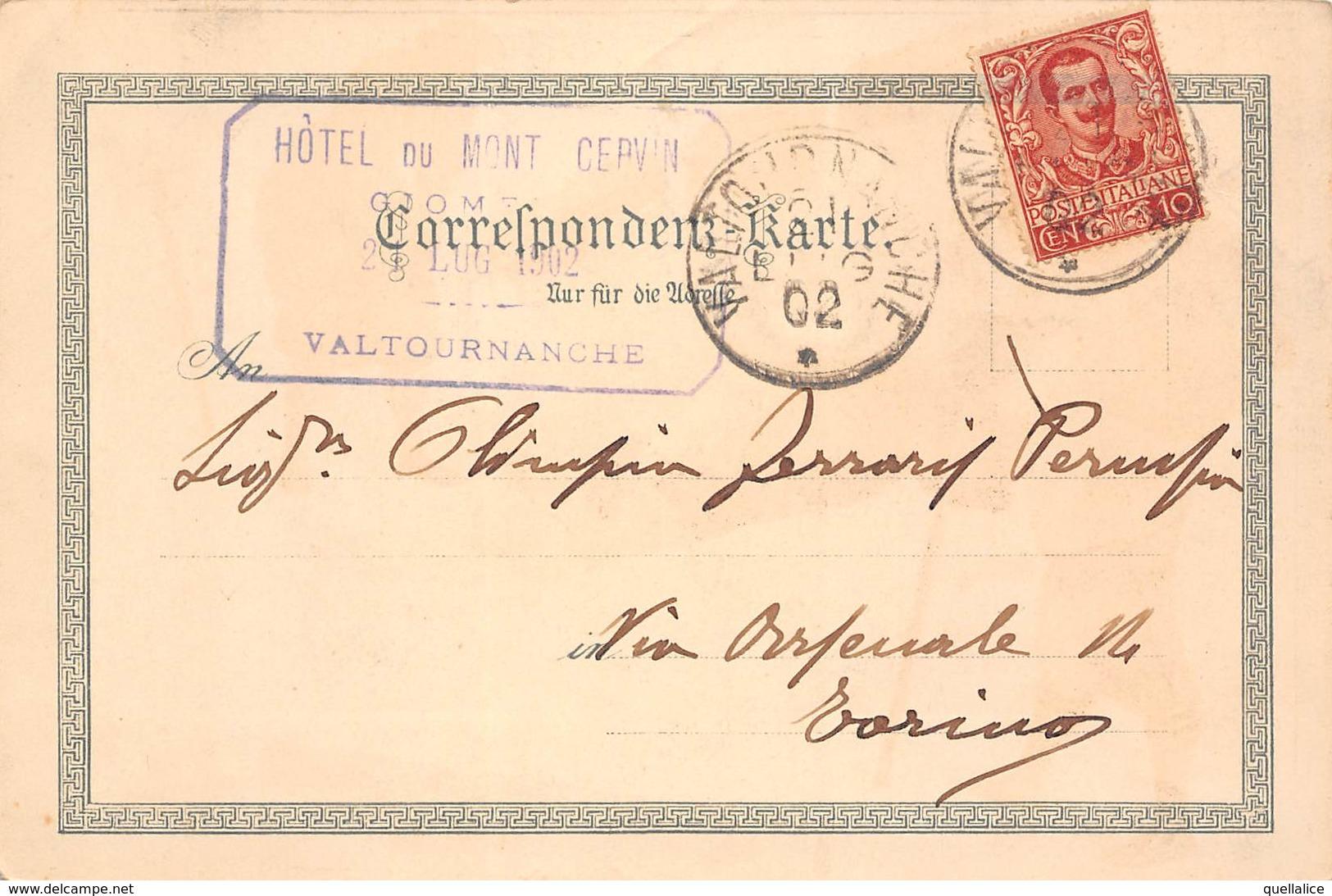 "0887 ""(AO) VALTOURNANCHE - TIMBRO HOTEL - COSA STARA' CERCANDO?......... - UMORISTICA""  CART SPED 1902 - Humour"