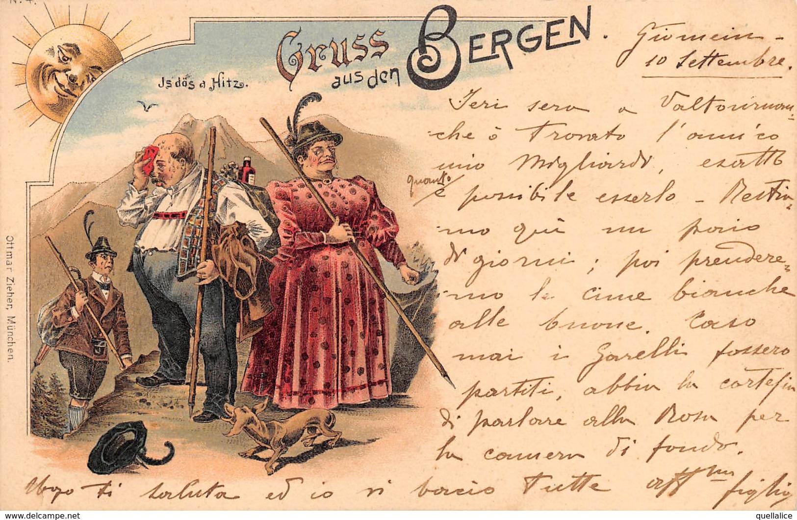 """0888 """"(AO) VALTOURNANCHE - TIMBRO HOTEL - LA SIGNORA NON E' STANCA.........GRUSS - UMORISTICA""""  CART SPED 1903 - Humour"""