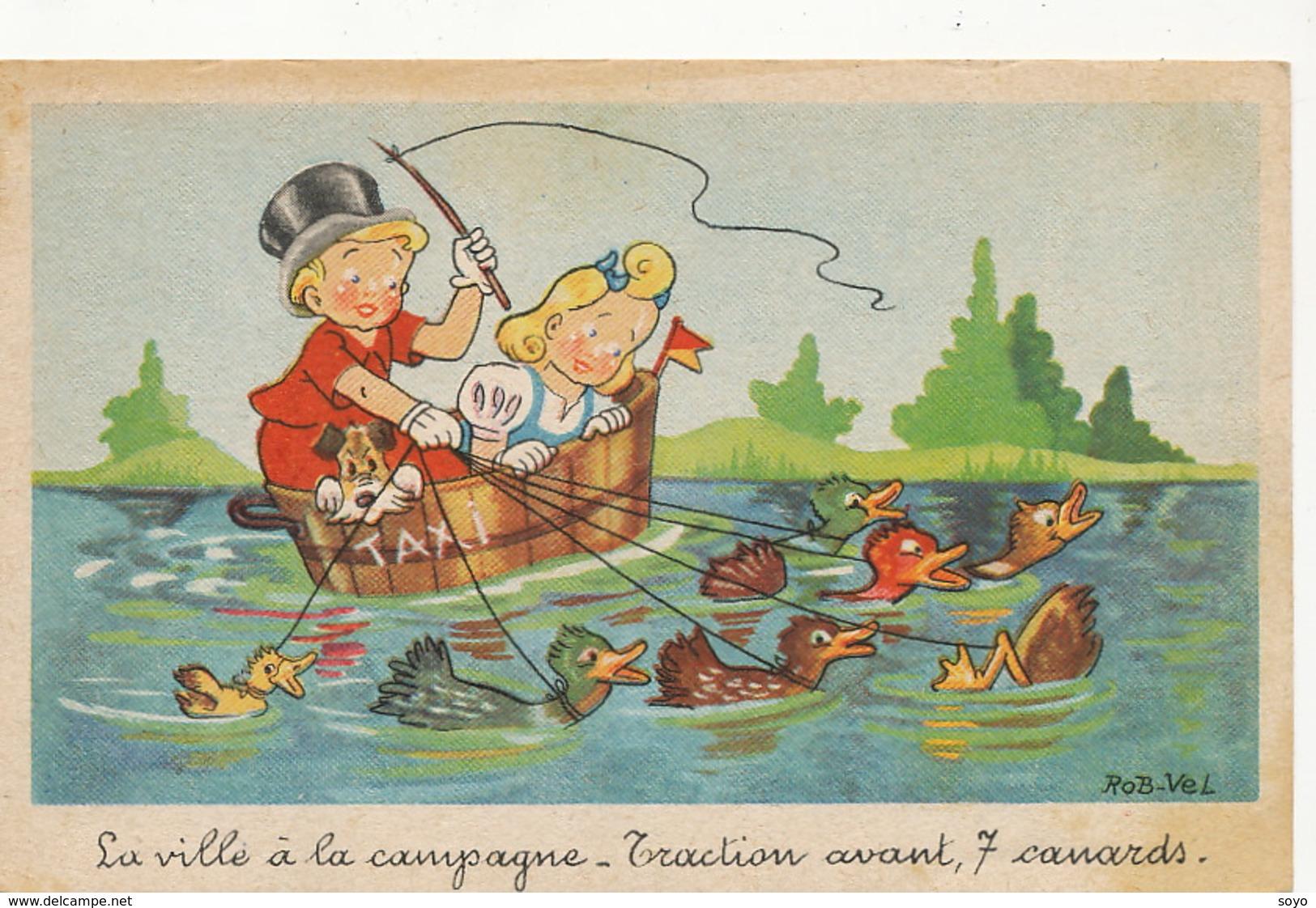 Humour Traction Avant 7 Canards Taxi Par Rob Vel - Taxi & Carrozzelle
