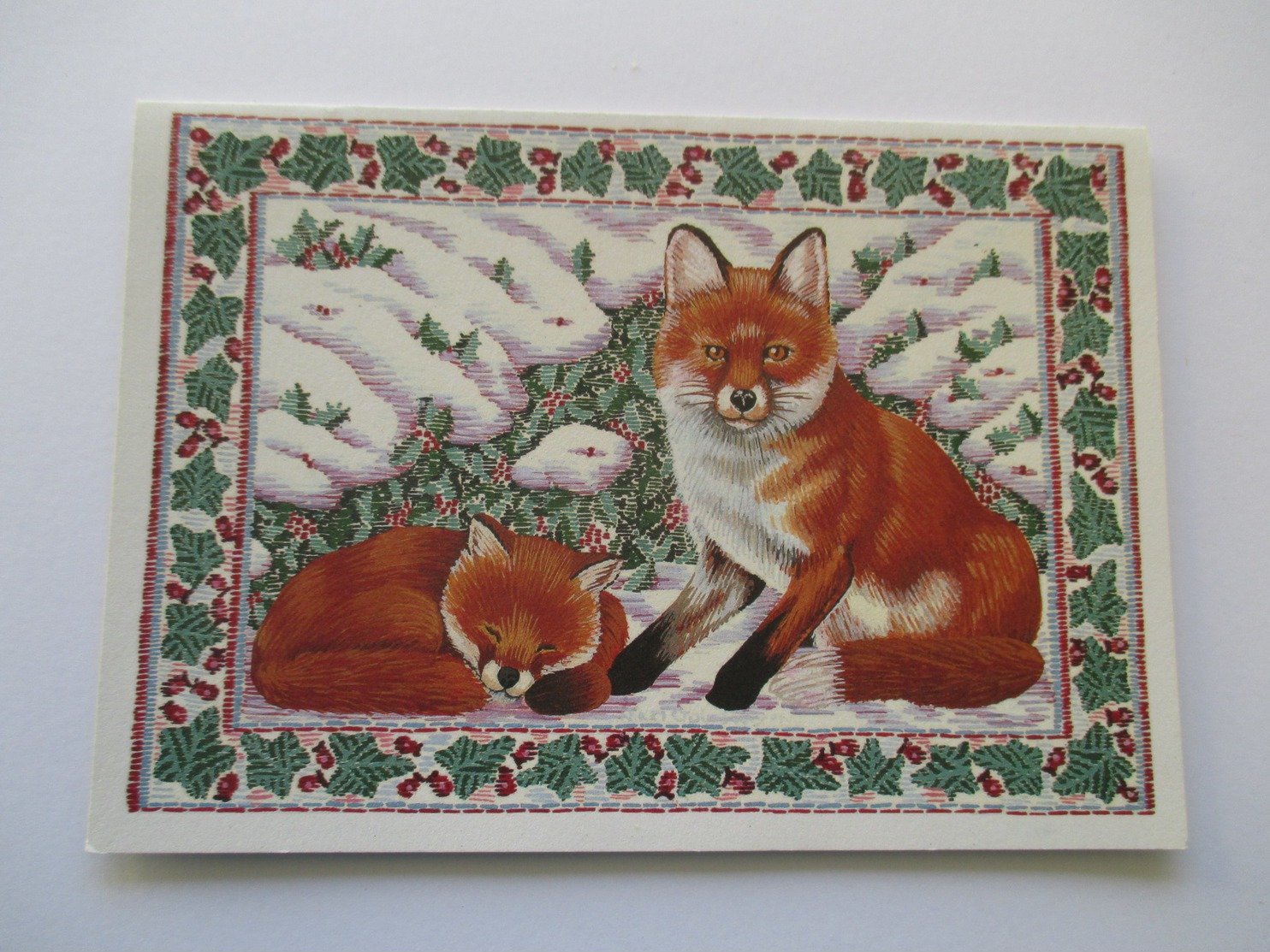 Illustration Renard  Carte Non écrite Red Fox - Animaux & Faune