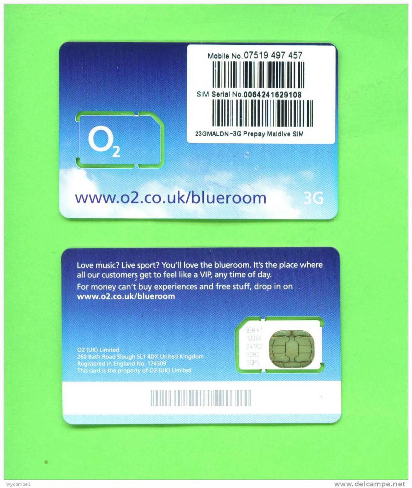 MALDIVES  -   Mint/Unused UK O2 SIM Prepared For Use In The Maldives - Maldiven