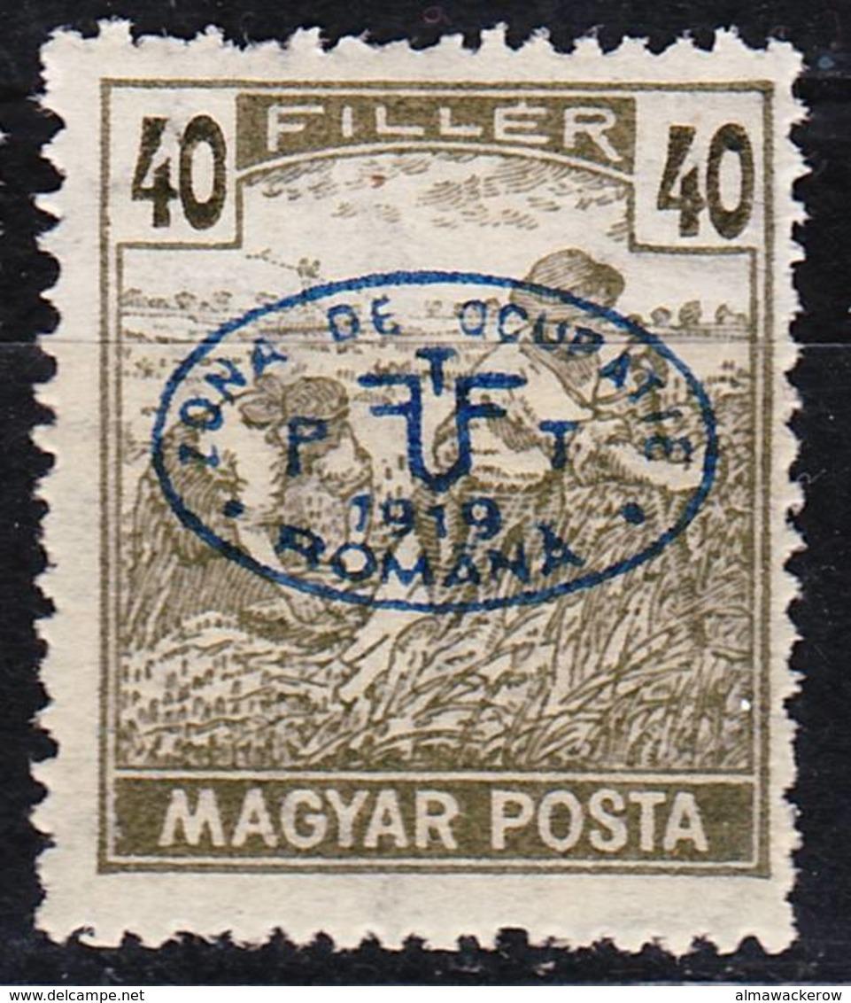 2019-0067 Hungary Occupation WWI 1919 Debrecen Mi 70 MH * - Unused Stamps