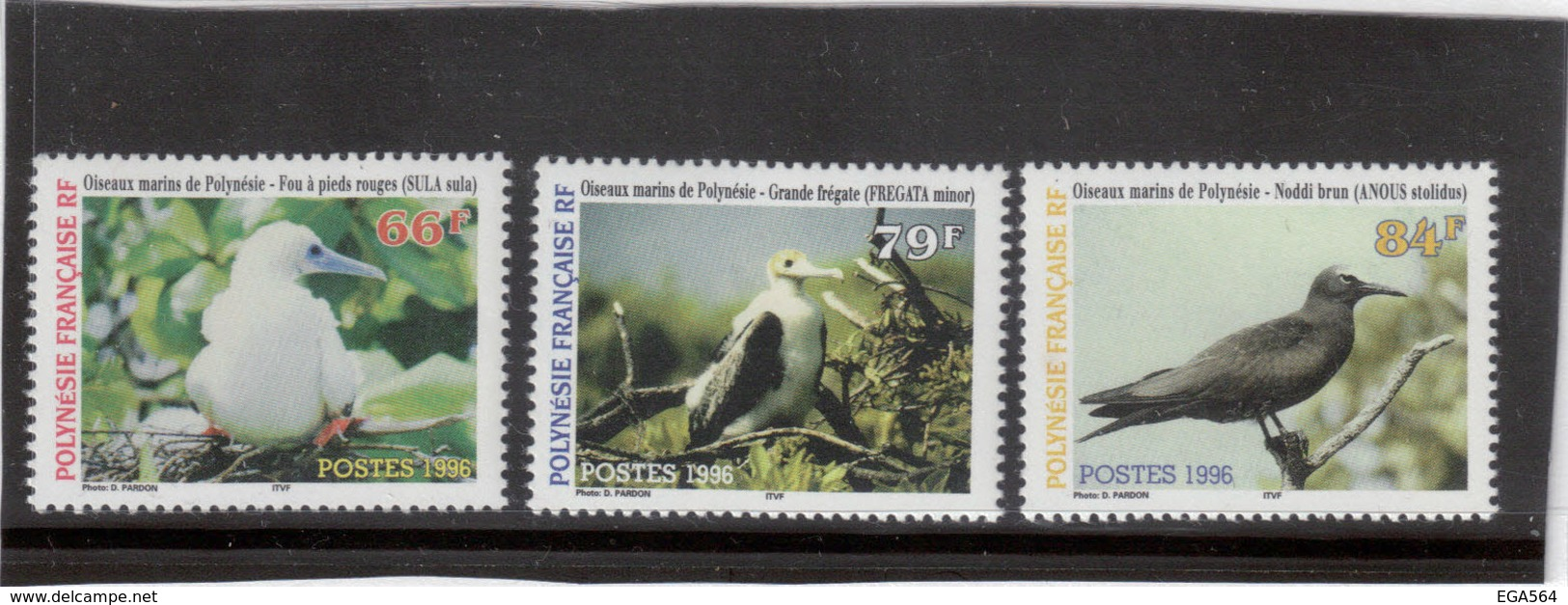 VV6 - POLYNESIE FRANCAISE - PO 510 / 512 ** MNH De 1991 - FAUNE - Oiseaux Marins De Polynésie - Birds - Polinesia Francesa