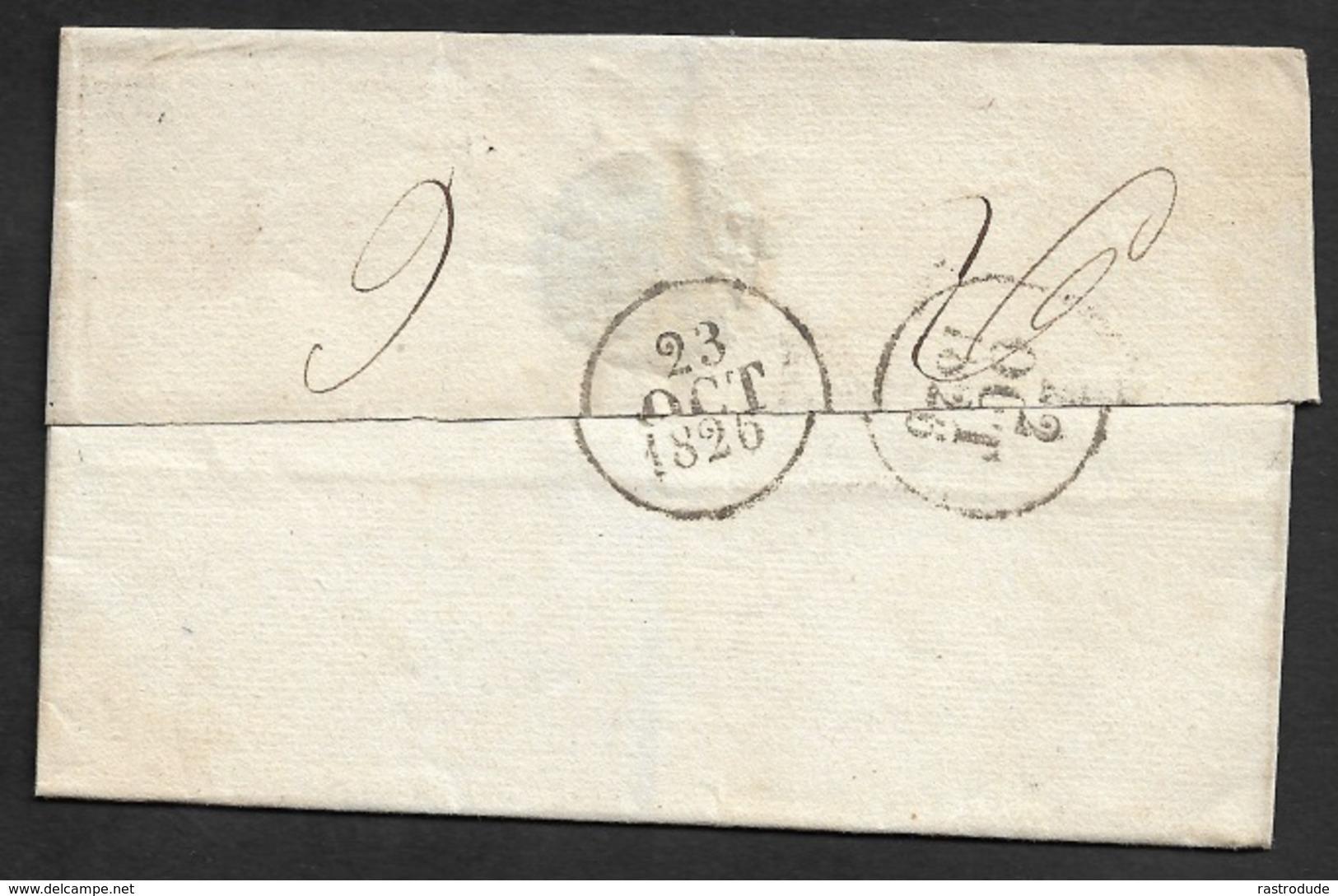 1826 - LSC - PARIS A METZ - PORT PAYÉ - 60/P.P/.B A Maire De Metz - Marcophilie (Lettres)