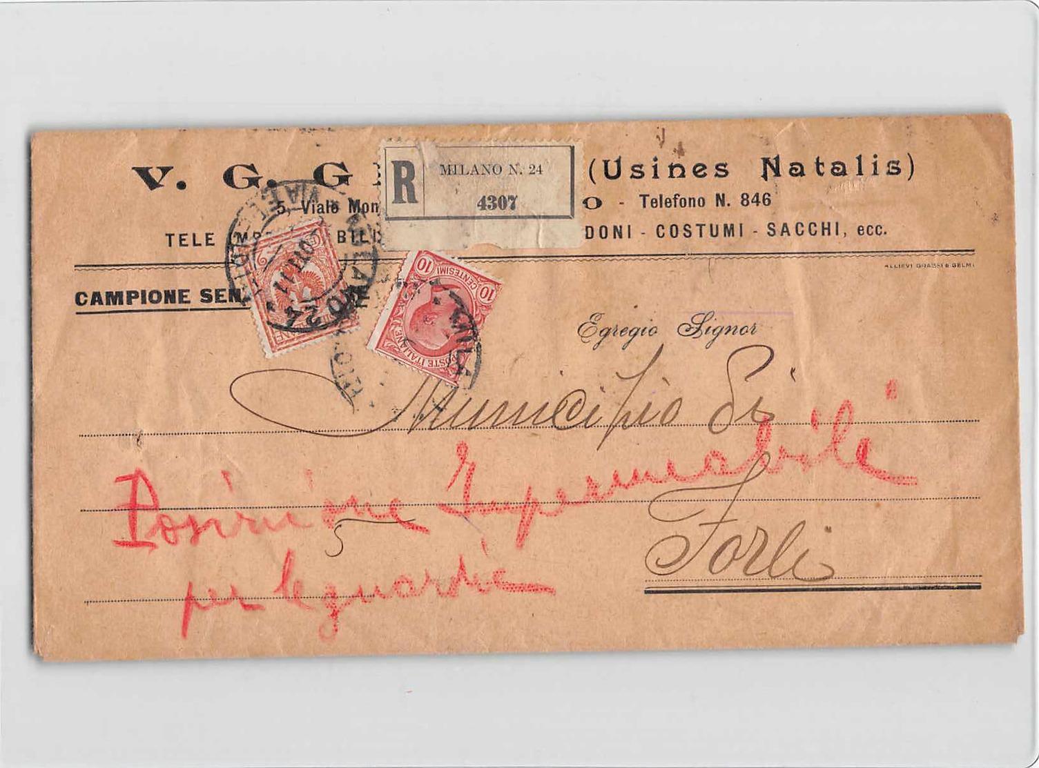 8922 MILANOX FORLI - CAMPIONE SENZA VALORE - 1900-44 Vittorio Emanuele III