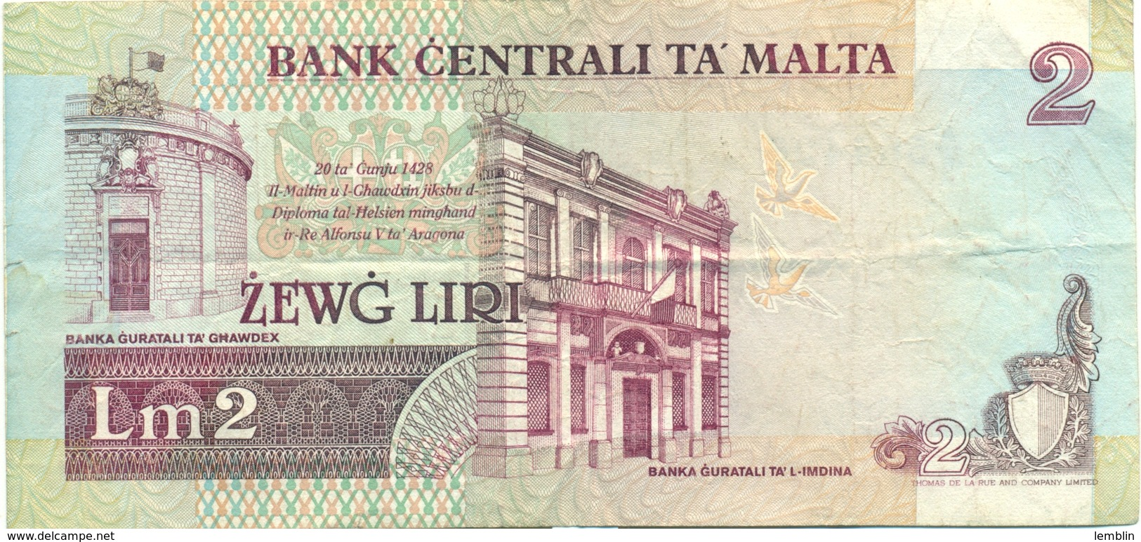 1 LIVRE 1989 - Malta