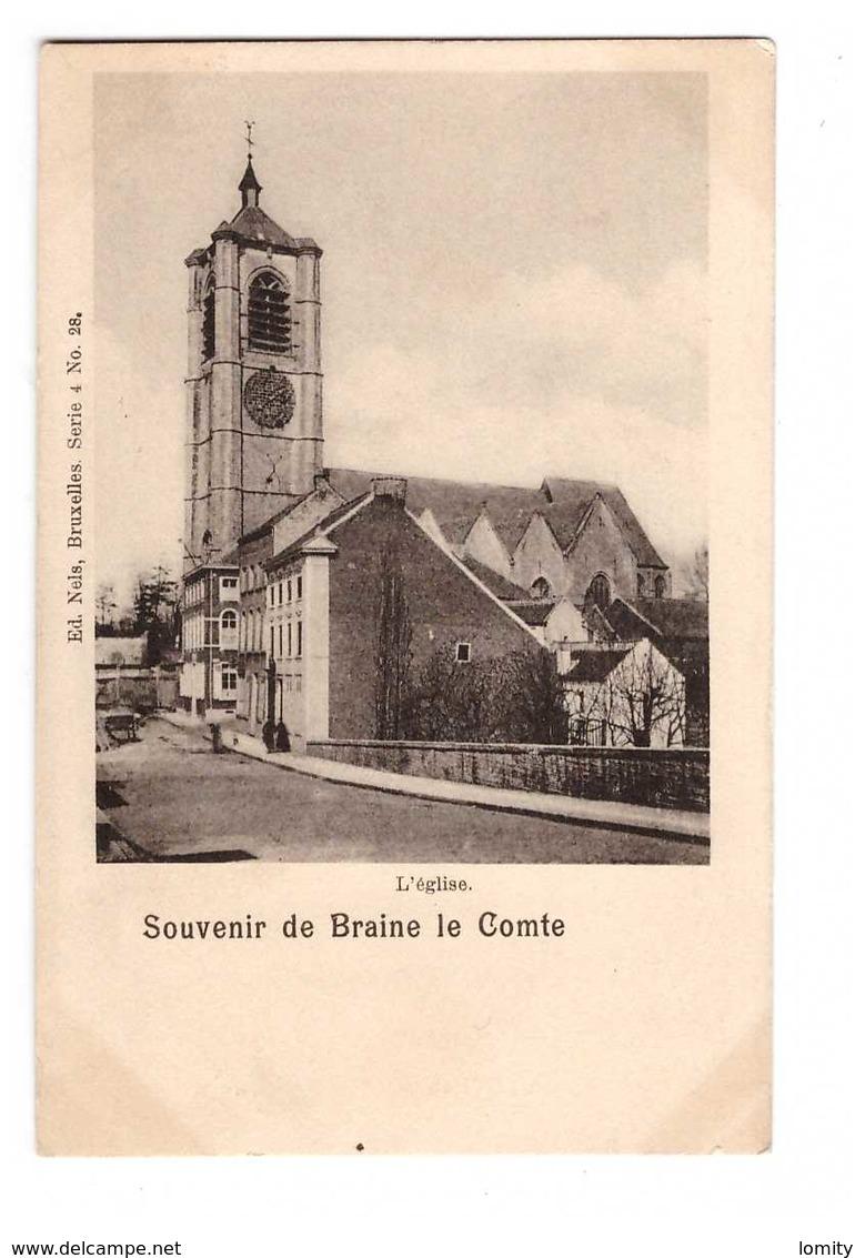 Belgique Souvenir De Braine Le Comte Eglise Cpa Edit Nels - Braine-le-Comte