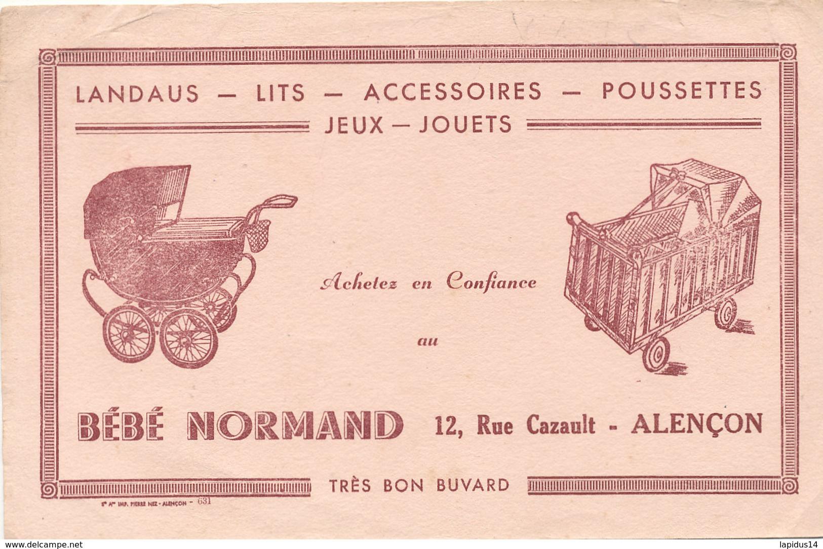 BU 1641-/  BUVARD     LANDAUS LITS POSSETTES  BEBE NORMAND   ALENCON - Bambini