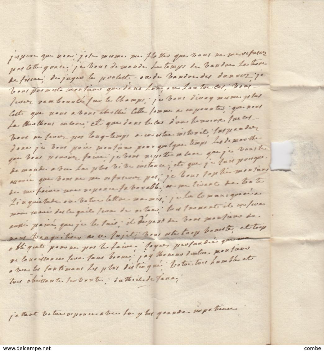 LETTRE.  LETTER. FRANCE. PUY-DE-DOME. 1768. CLERMONT F. POUR PARIS. TAXE PLUME 8 - Briefmarken