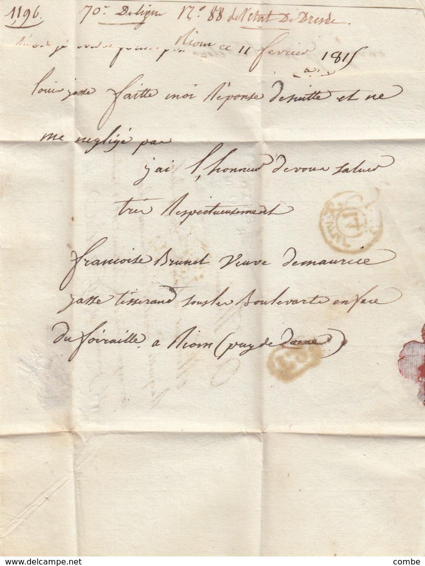 LETTRE.  LETTER. FRANCE. PUY-DE-DOME.  1815.  P.62.P./RIOM   POUR ST GERMAIN PARIS. P.P.P.P. - Ohne Zuordnung