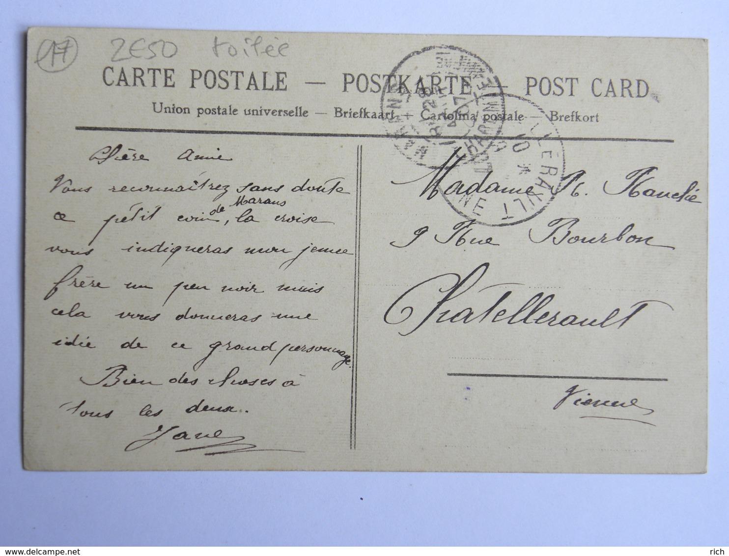 CPA (17) Charente Maritime - MARANS - Rue Gambetta - Carte Toilée - France