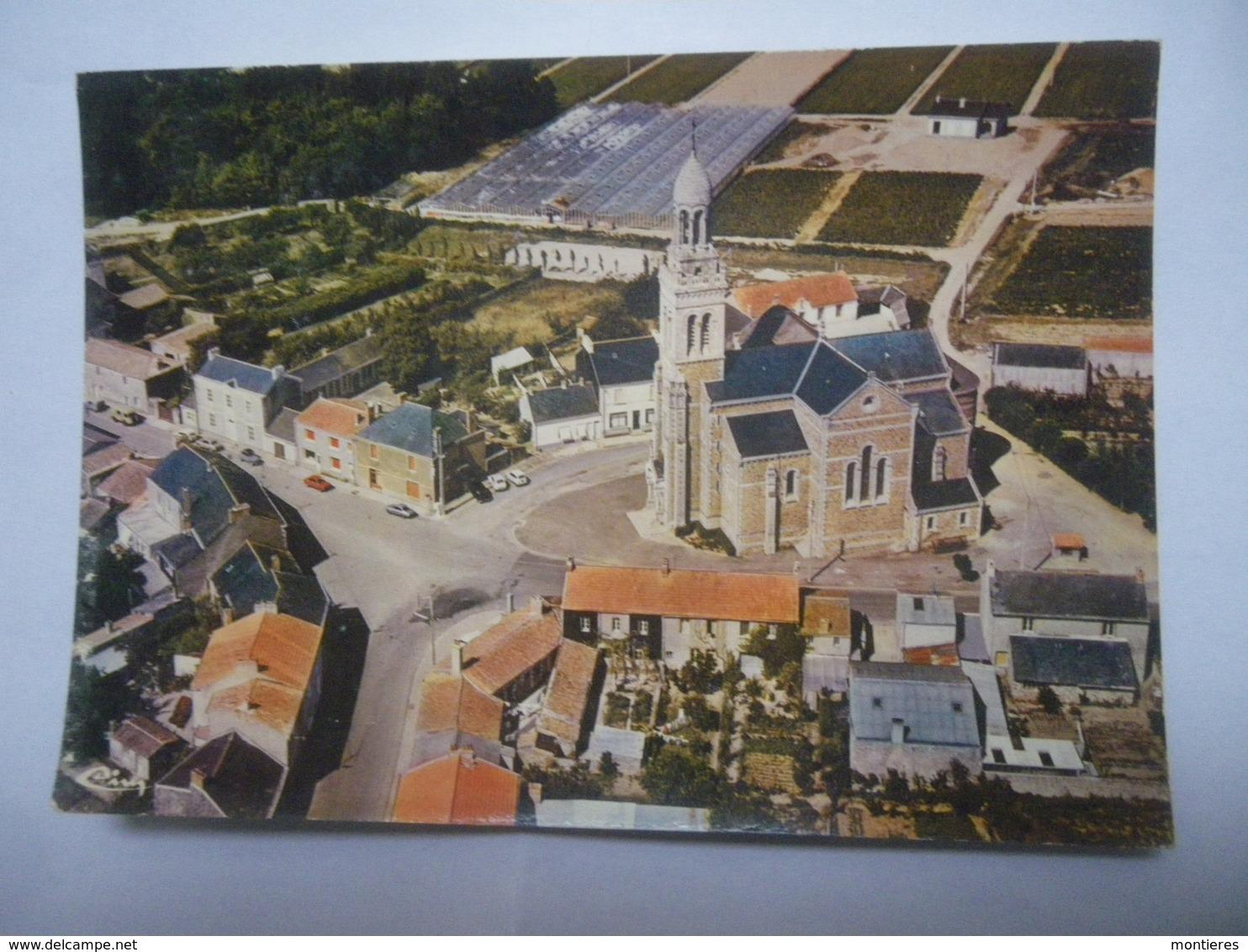 CPSM 44 LOIRE ATLANTIQUE - SAINT MARS DE COUTAIS VUE AÉRIENNE - France