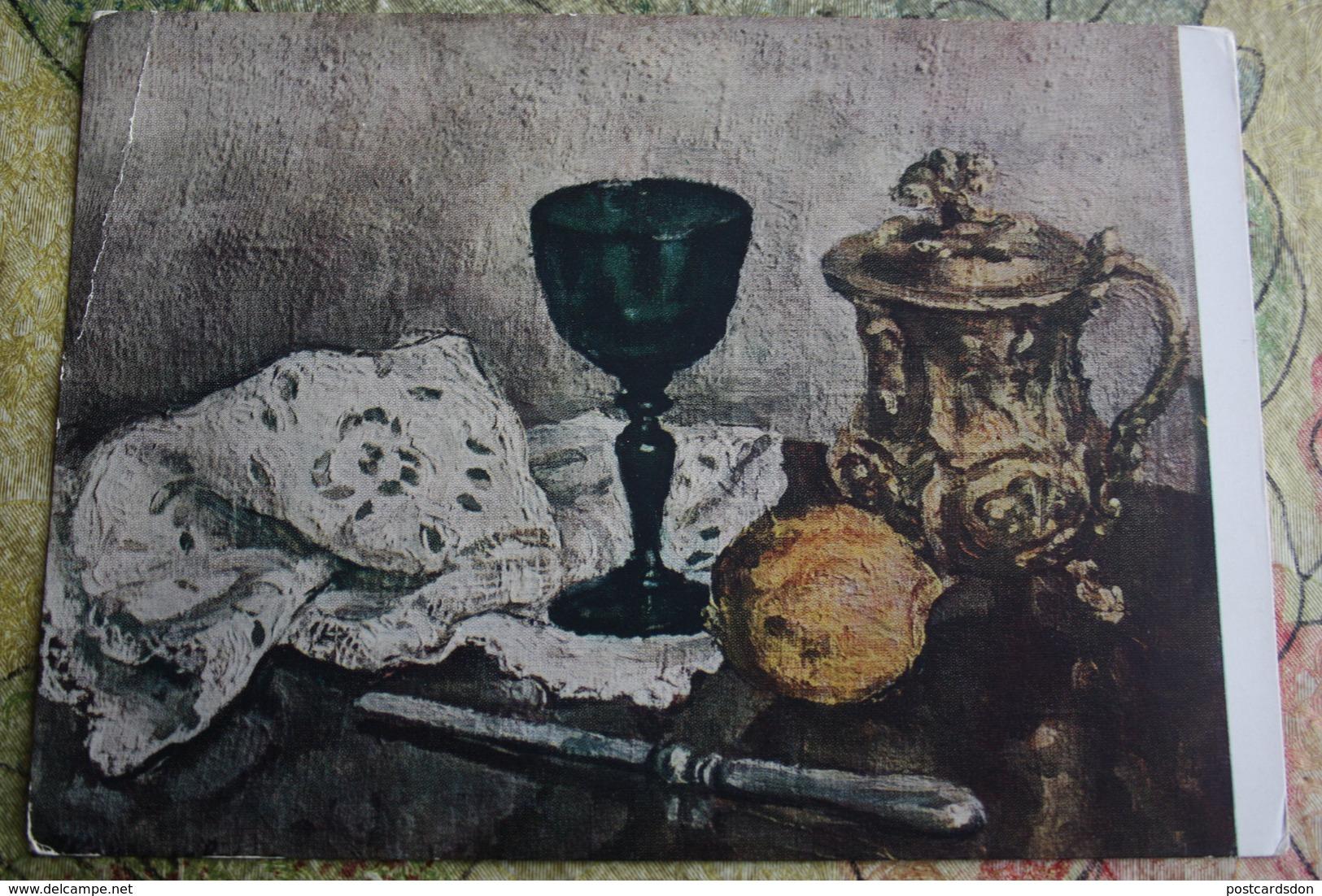 "Alcohol In Art -  *Still Life With Green Glass"" - By Konchalovsky - Moldavie"