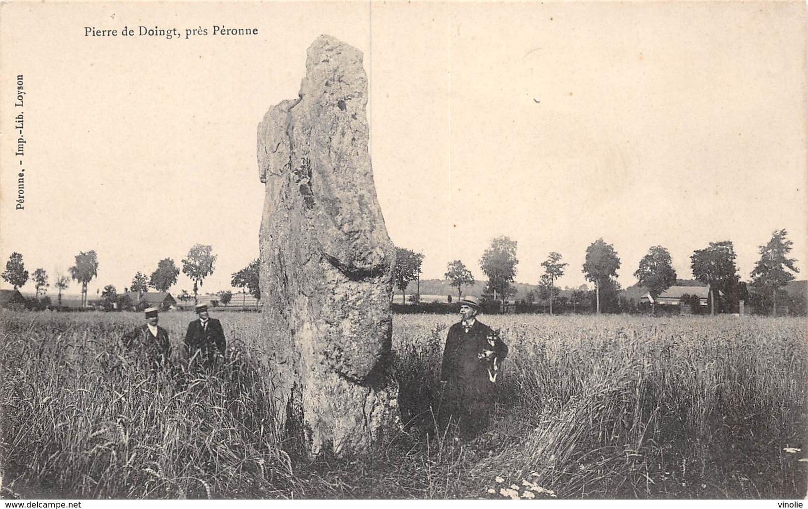 PIE-19-Mo-991 : PIERRE DE DOINGT PRES PERONNE. SOMME. - Dolmen & Menhirs