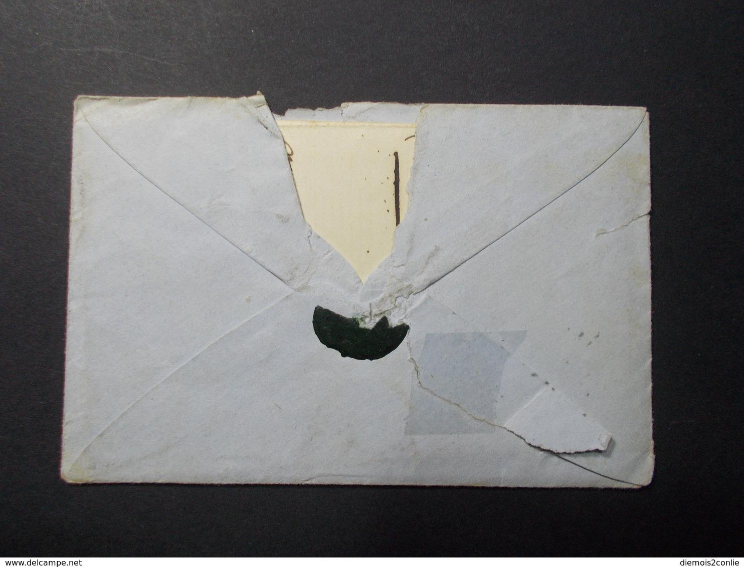 Marcophilie  Cachet Lettre Obliteration - Timbre N°13 - PC 2717 - 1862 (2259) - Marcophilie (Lettres)