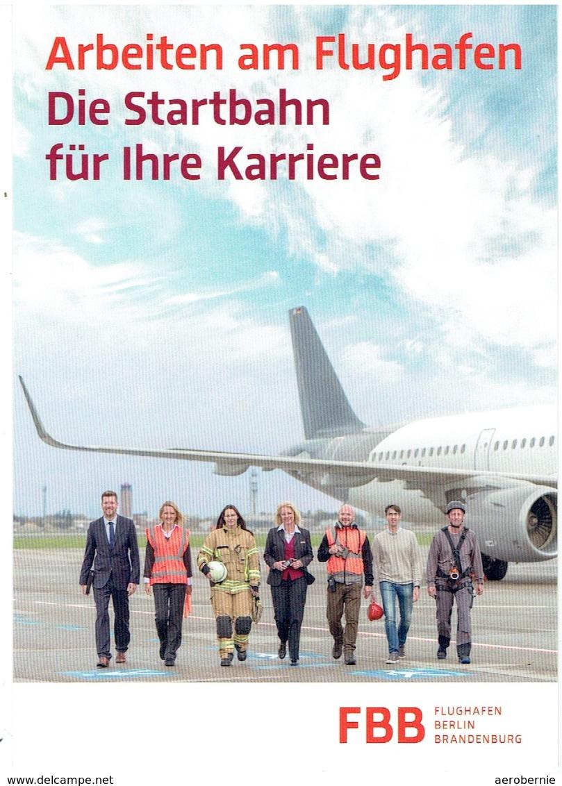 Werbekarte FBB - Flughafen Berlin-Brandenburg / Arbeiten Am Flughafen - Aerodrome
