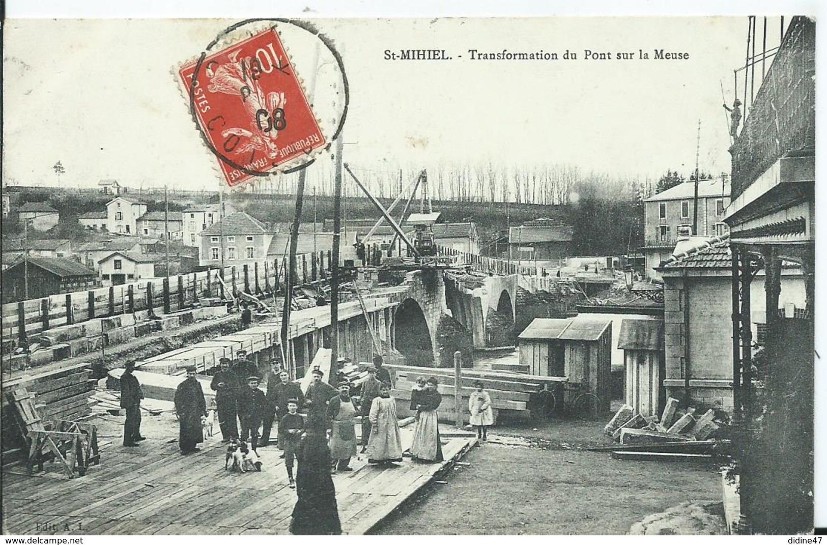 SAINT MIHIEL - Transformation Du Pont Sur La Meuse - Saint Mihiel
