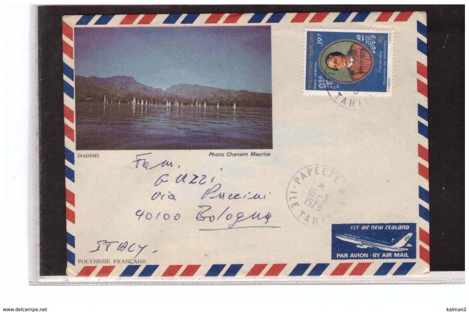 TEM6201   -   POLINESIA FRANCESE STORIA POSTALE    /   AIR MAIL LETTER   PAPEETE  16.3.1979 - Polinesia Francese