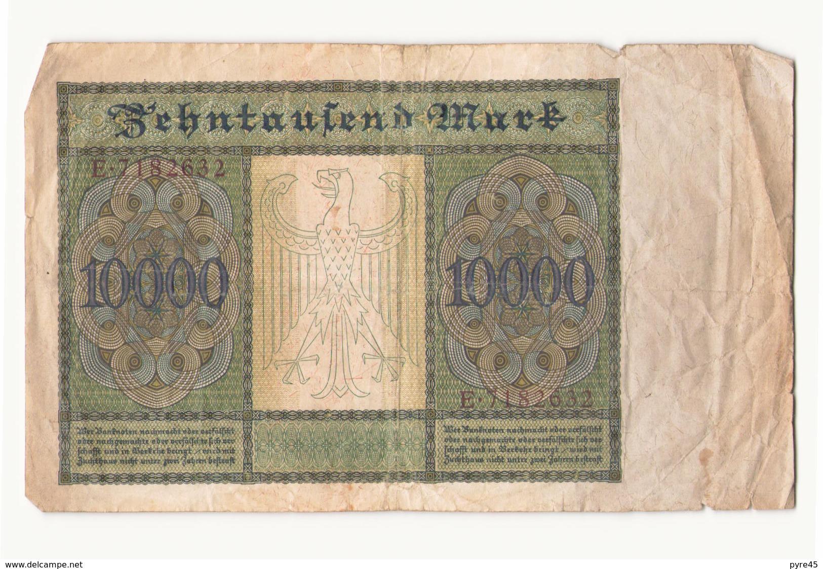 Allemagne Billet 10000 Mark 19 Janvier 1922 ( Pliures, Déchirures ) - [ 3] 1918-1933: Weimarrepubliek
