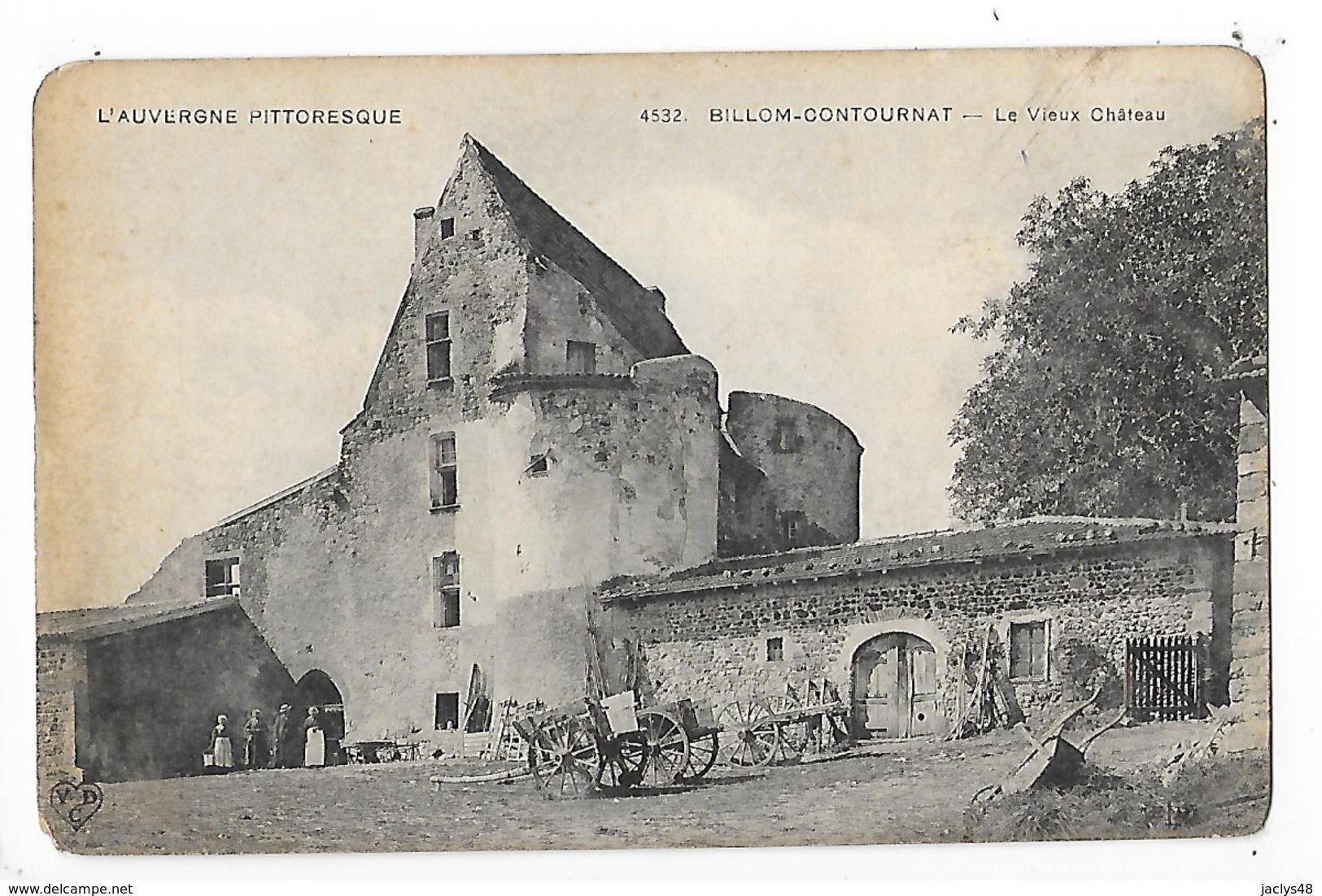 BILLOM - CONTOURNAT  (cpa 63)  Le Vieux Château    -  L 1 - Autres Communes