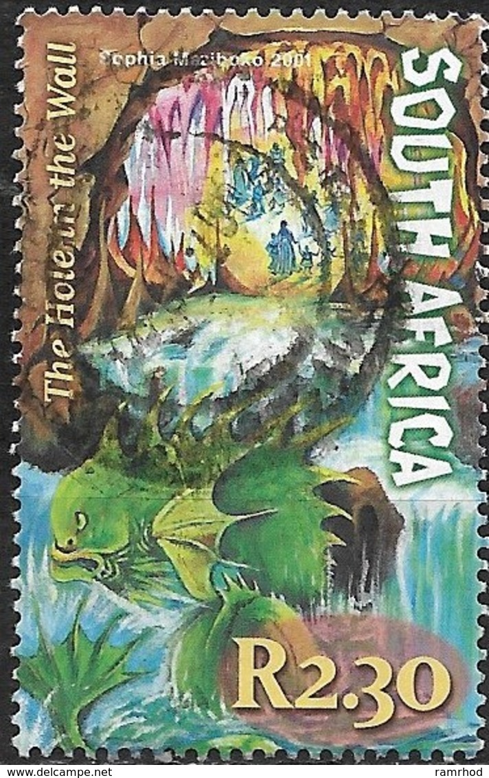 SOUTH AFRICA 2001 South African Myths And Legends - 2r.30 - The Hole In The Wall AVU - Afrique Du Sud (1961-...)