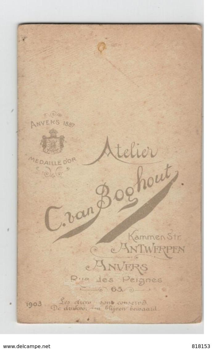 Fotograaf Chles Van Boghout ANTWERPEN  Kindje 1903  Foto Op Hard Karton 10,5x6,5cm - Photographs