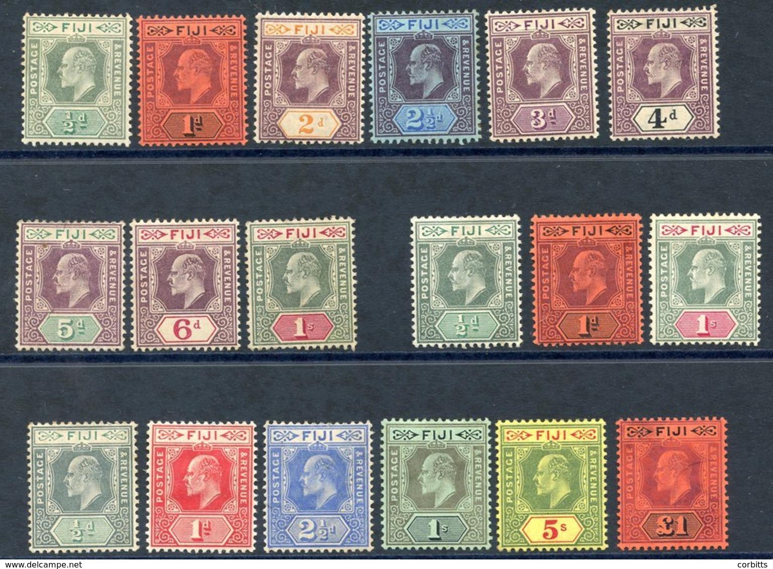 1903 CCA Set To 1s, M (some Toning), SG.104/112, 1904-09 MCCA Set M, SG.115/7, 1906-12 Colours Changes MCCA Set, M Exclu - Non Classés