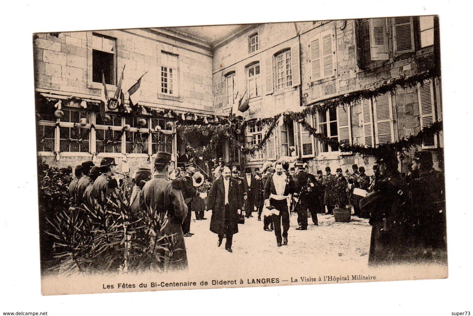 CPA 52 - Fêtes Du Bi-centenaire De Diderot à Langres - La Visite à L'hôpital Militaire - Langres