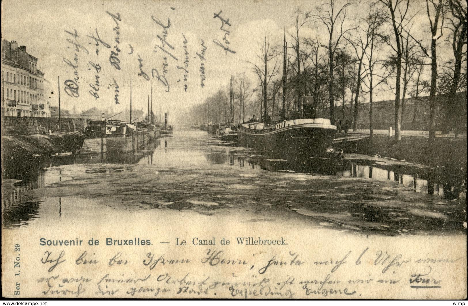 LAEKEN :  Le Canal De Willebroeck - Laeken