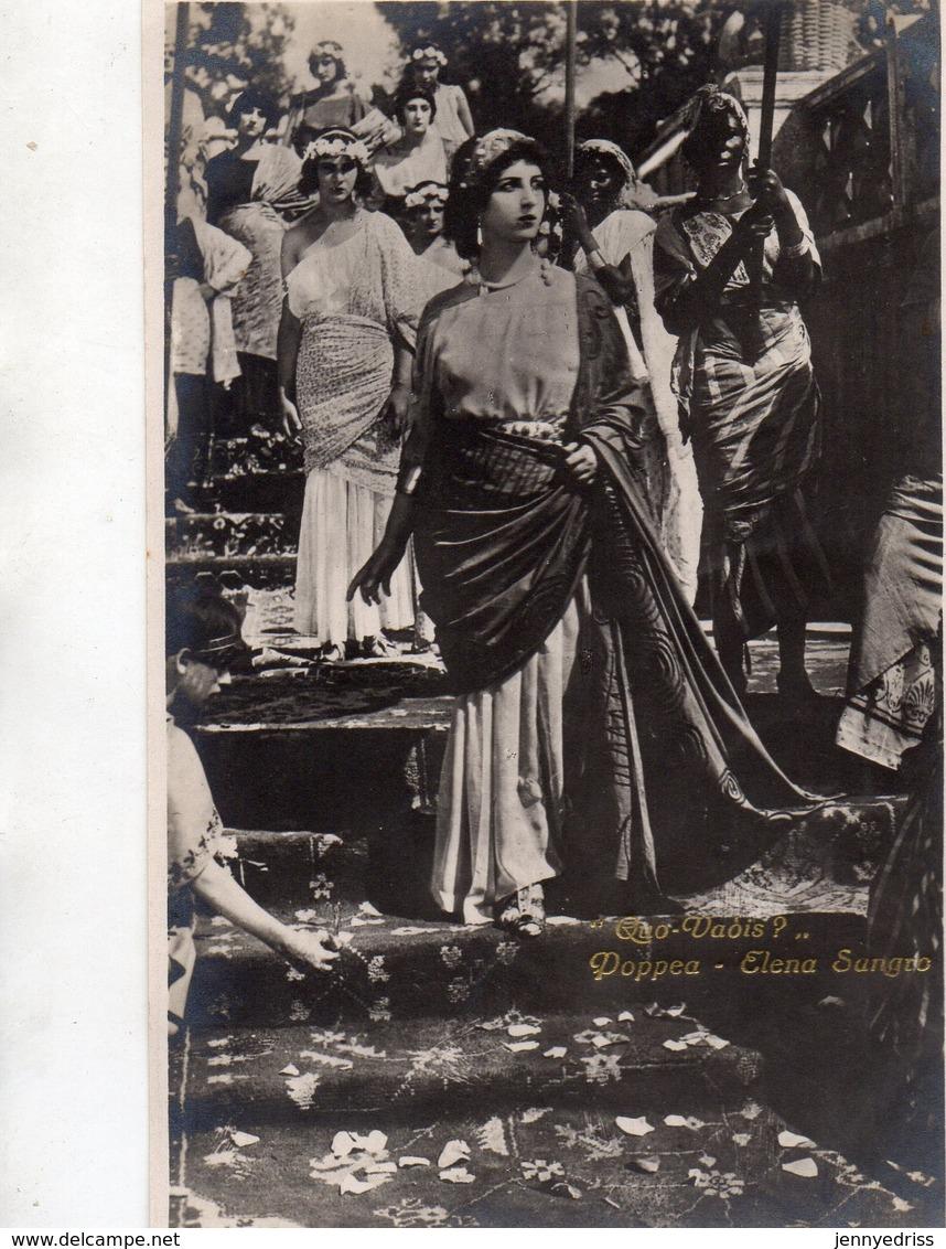 QUO  VADIS  ,  Film Muto  Del 1924  Regia Gabriellino  D Annunzio  E  Georg Jacoby , Attrice  Elena  Sangro - Attori