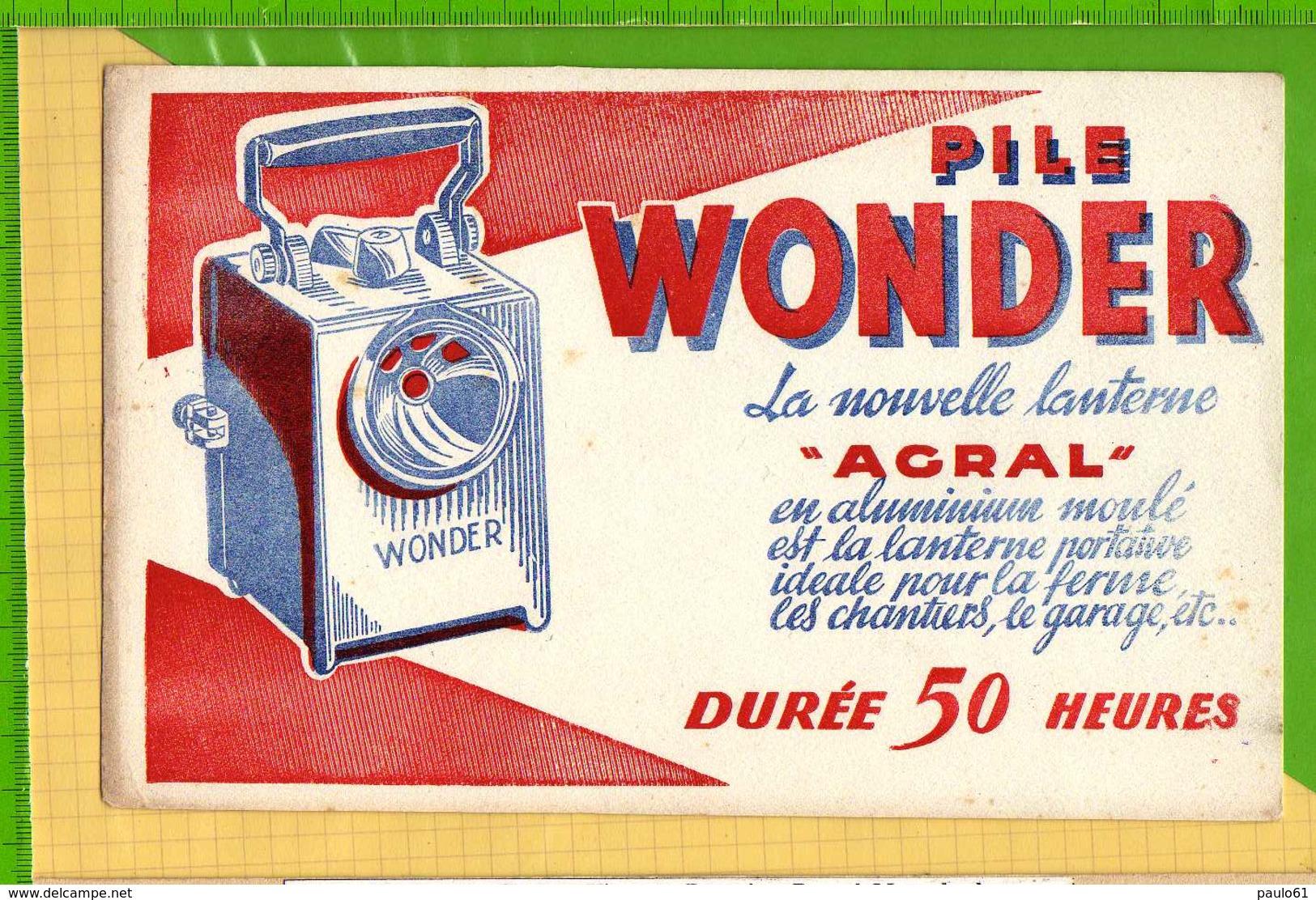 BUVARD & Blotting Paper : Pile Wonder La Nouvelle Lanterne AGRAL - Piles