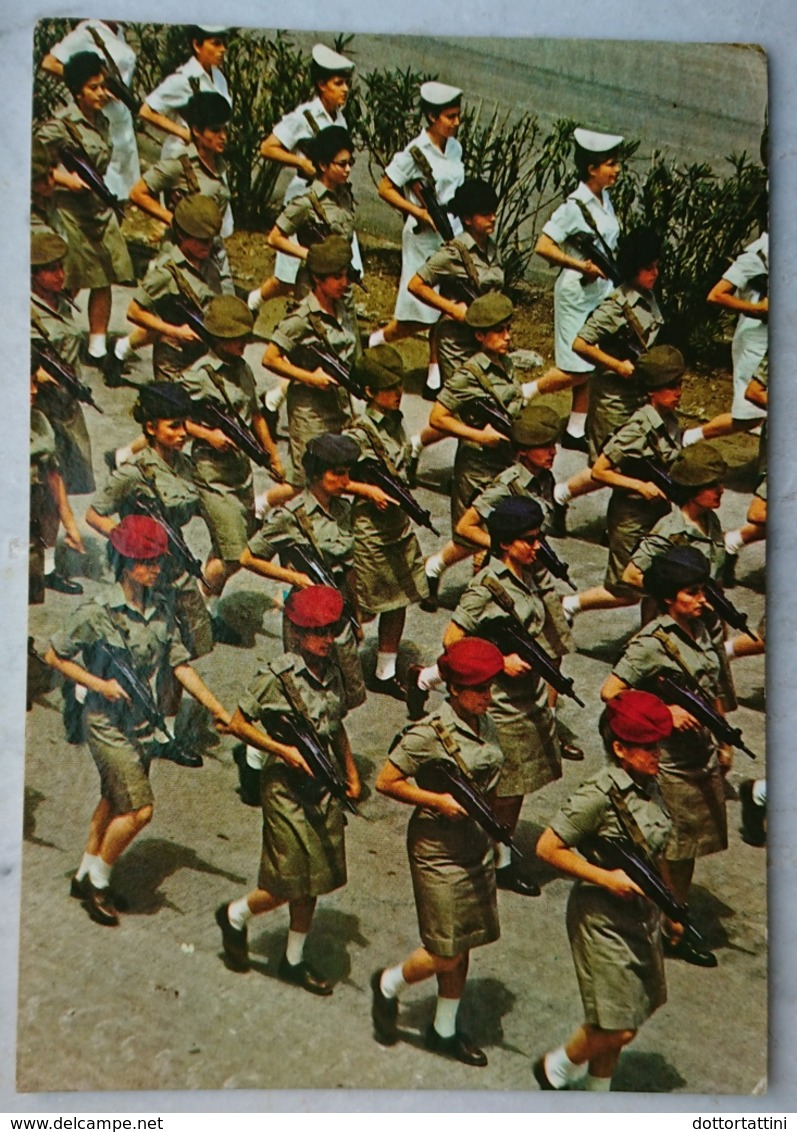 ISRAEL - Girl Soldiers On The March / Israel Defence Force Army - Israel's Independence Day, Yom Ha'atzmaut - Vg 1968 - Manovre